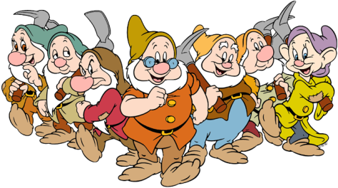 The seven dwarfs of Disney