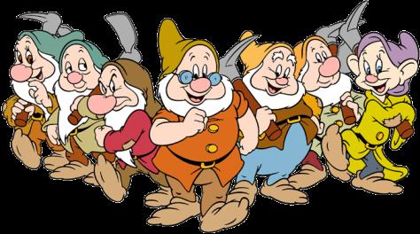 The seven dwarfs of Disney