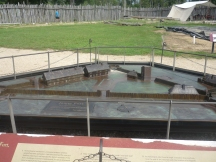 Model of how the fort would have been laid out