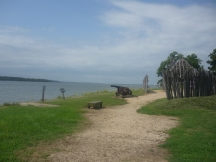 Recreated fort at Jamestown