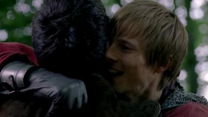 arthur merlin hug