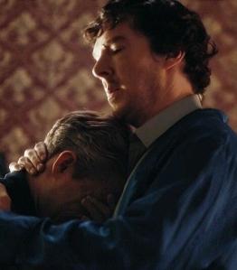 sherlock hug john