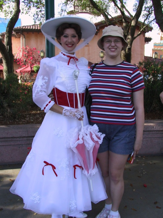 Meeting Mary in Disney World in 2007